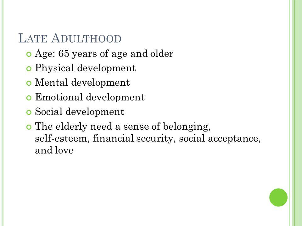 social development in old age 65