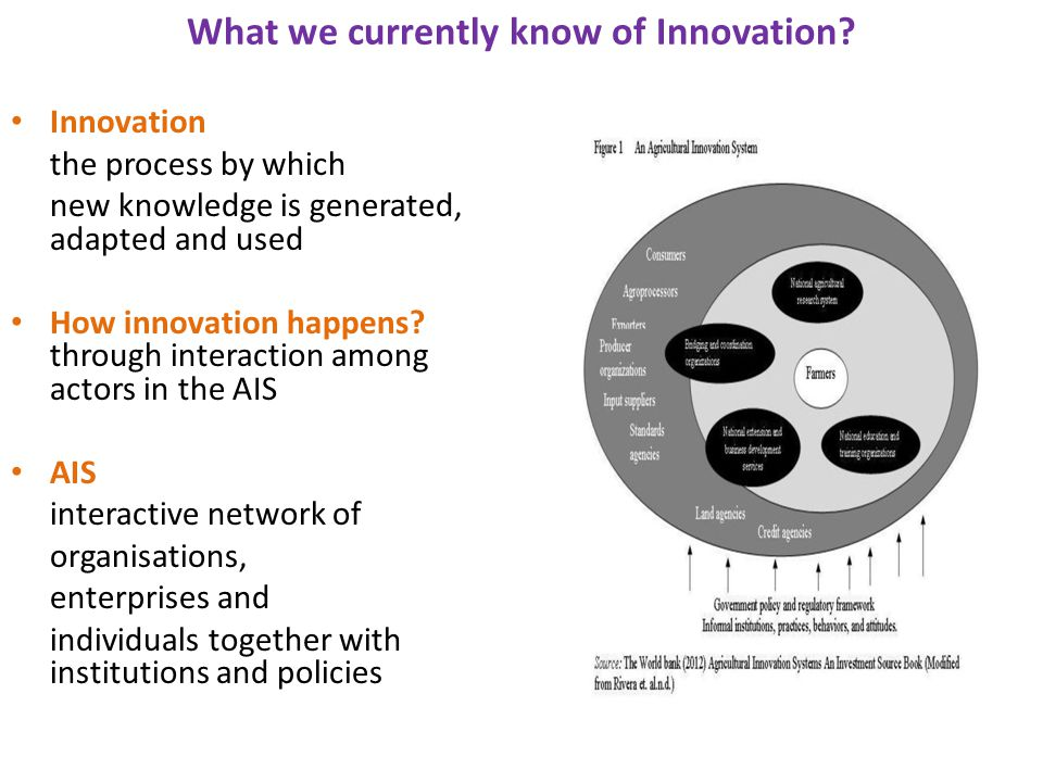 What we currently know of Innovation