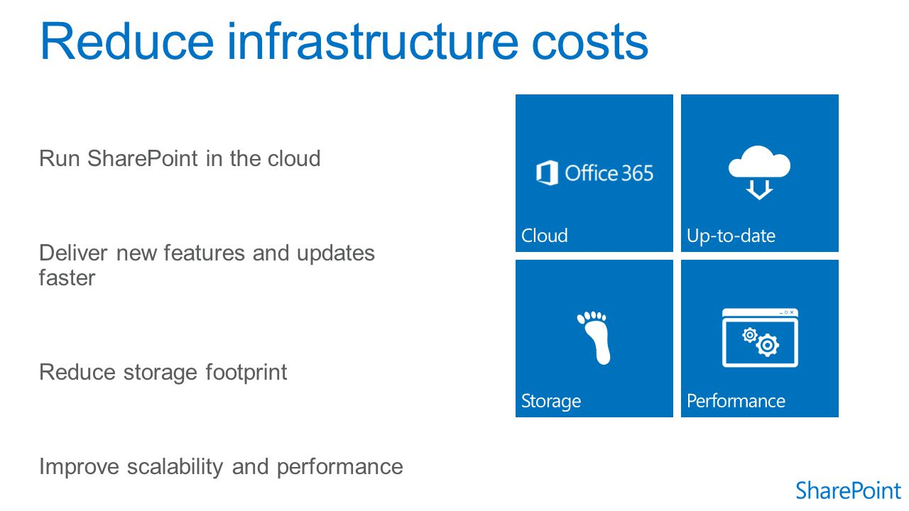 Reduce infrastructure costs