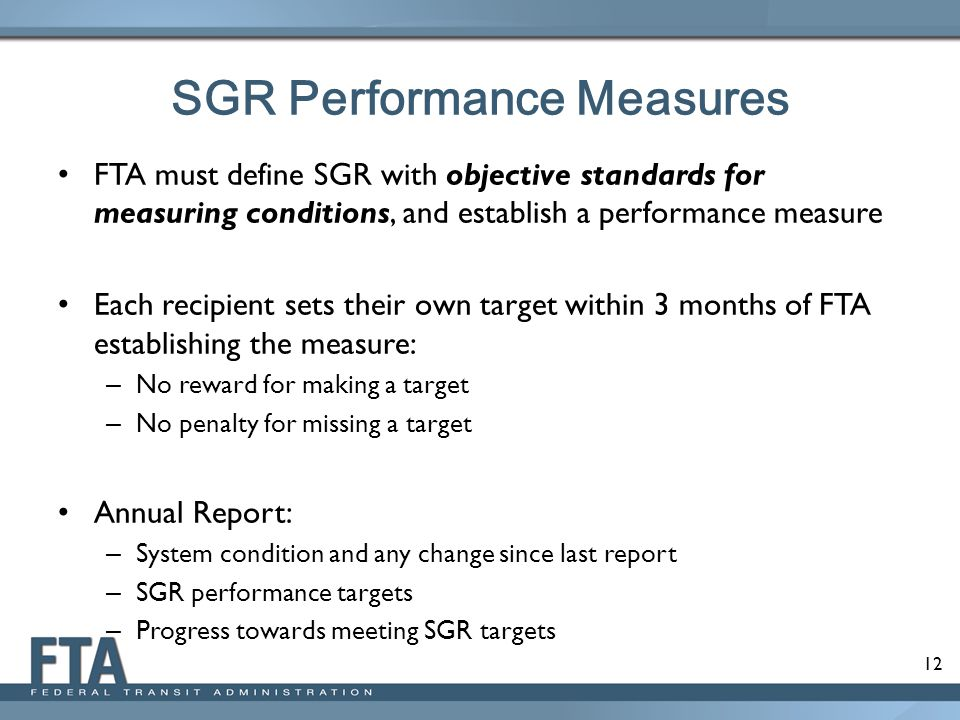 SGR Performance Measures