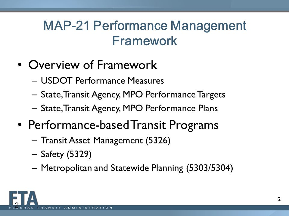 Map 21 Act.Map 21 Performance Management Framework August 8 2013