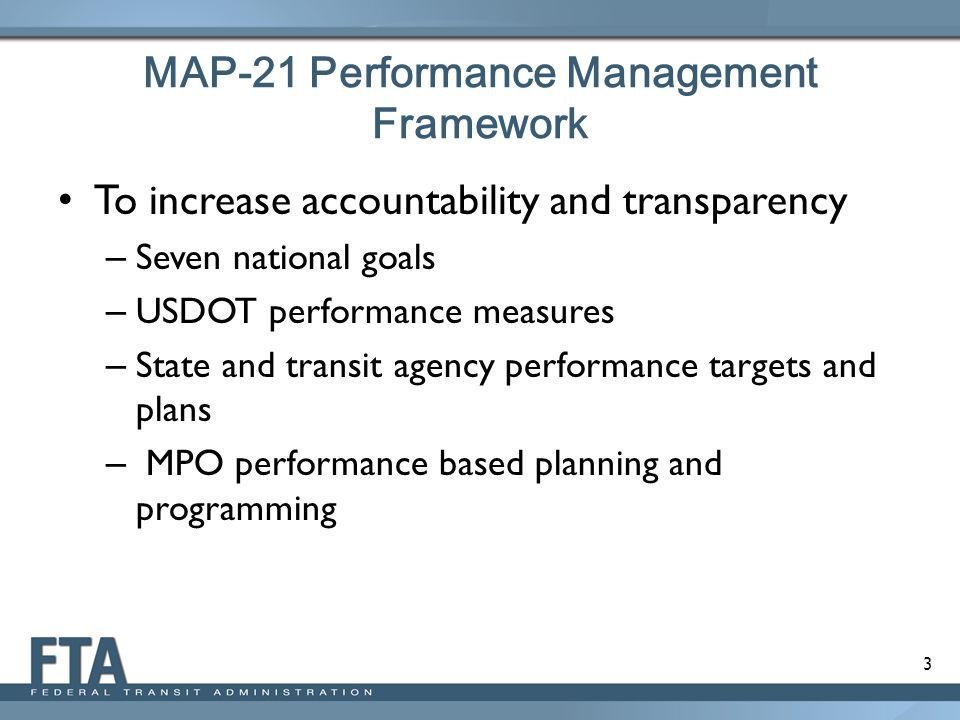 MAP-21 Performance Management Framework