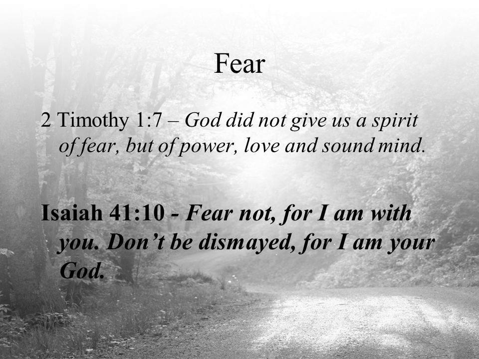Image result for god did not give us a spirit of fear