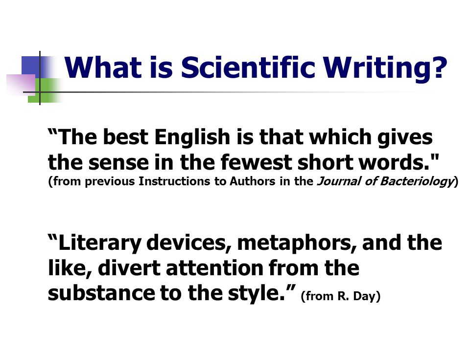 What is Scientific Writing