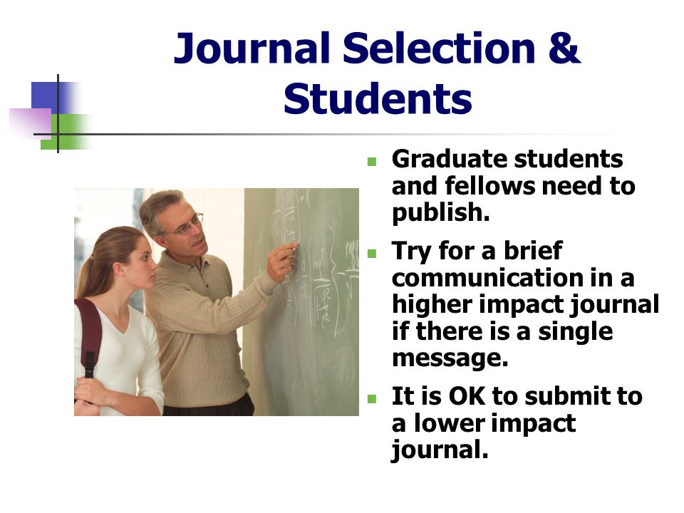 Journal Selection & Students