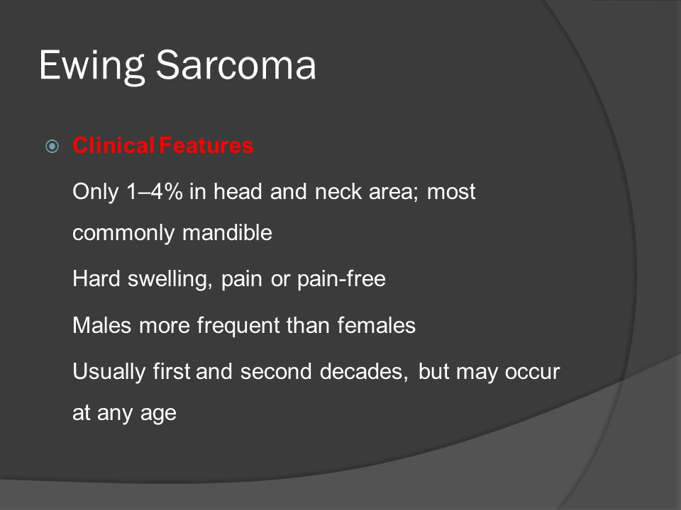 Ewing Sarcoma Clinical Features