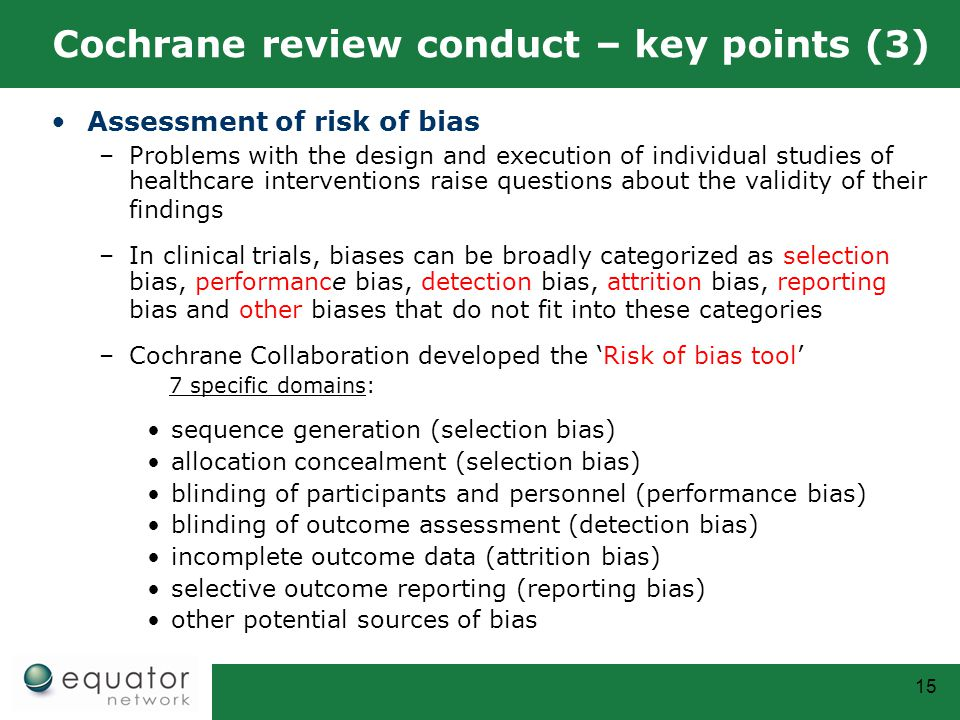Cochrane review conduct – key points (3)