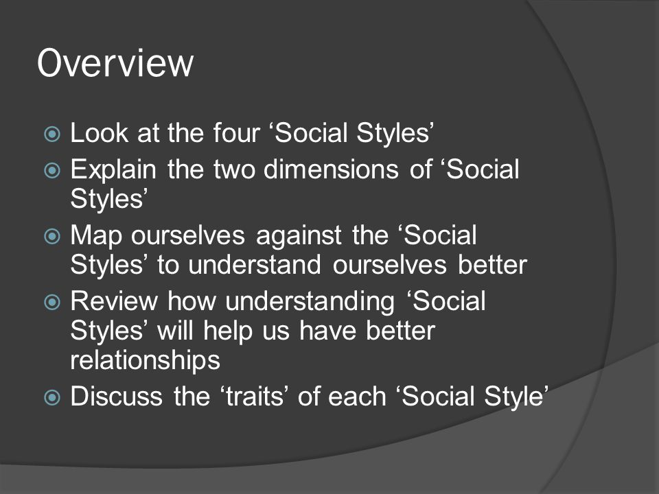 b90d3113d1 Overview Look at the four  Social Styles  - ppt video online download