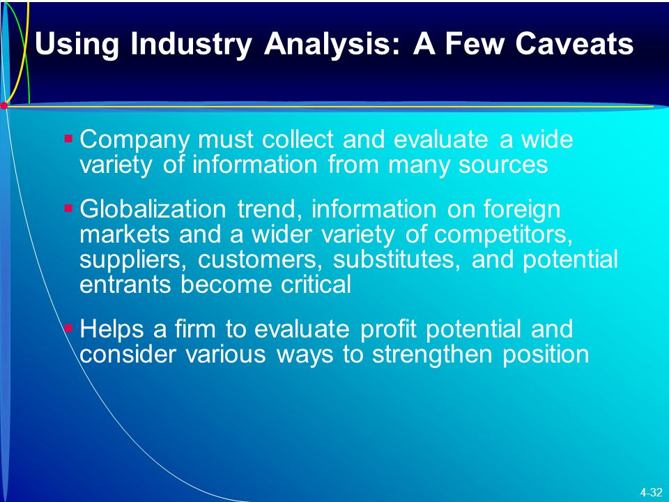 Using Industry Analysis: A Few Caveats