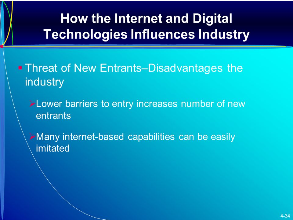 How the Internet and Digital Technologies Influences Industry