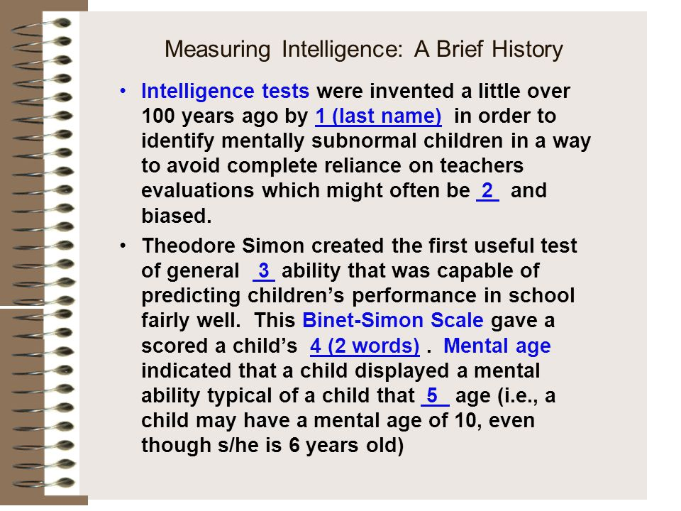 Measuring Intelligence: A Brief History