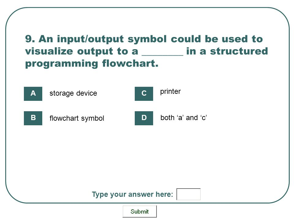 Use Flowchart Symbols For Structured Programming Ppt Download