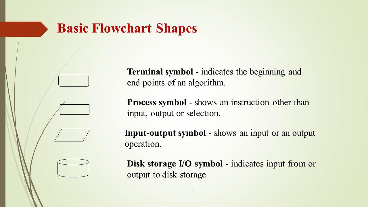 Fundamentals Of Algorithms Mcs 2 Lecture 4 Ppt Video Online Process Flow Diagram Shapes Basic Flowchart