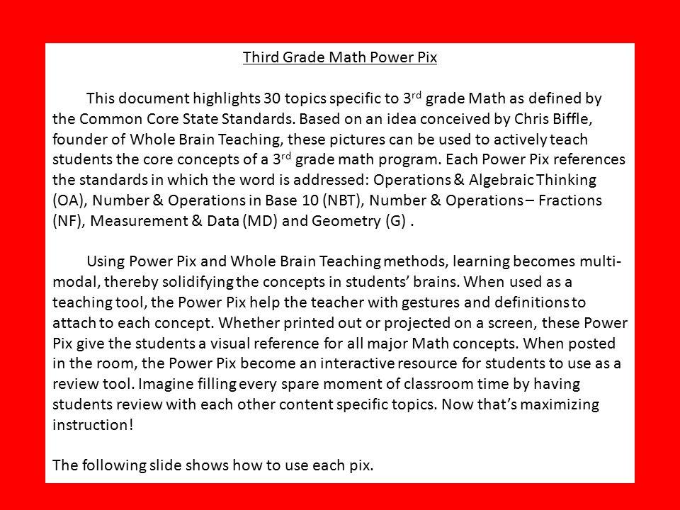 3rd Grade Math Power Pix Kate Bowski Common Core Edition - ppt video ...