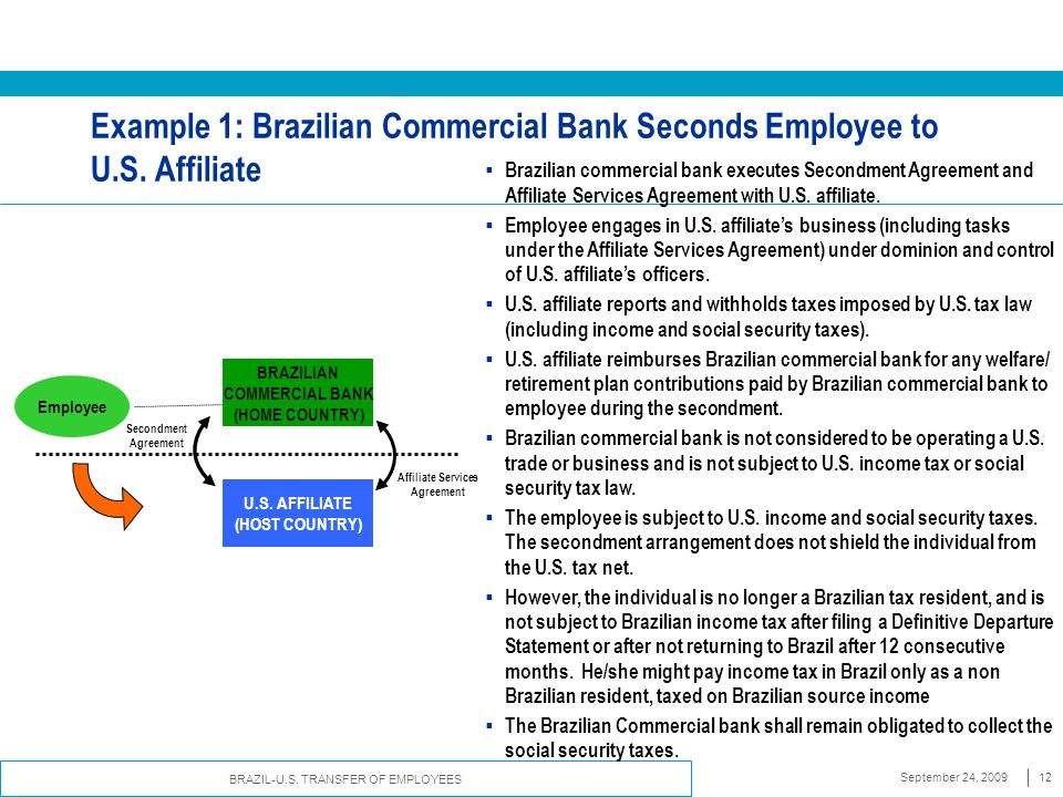 Transfer Of Employees Between Us And Brazilian Employers Ppt