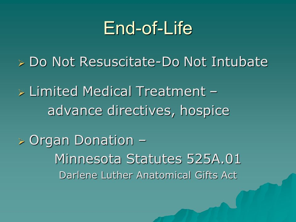 Darlene Luther Anatomical Gifts Act
