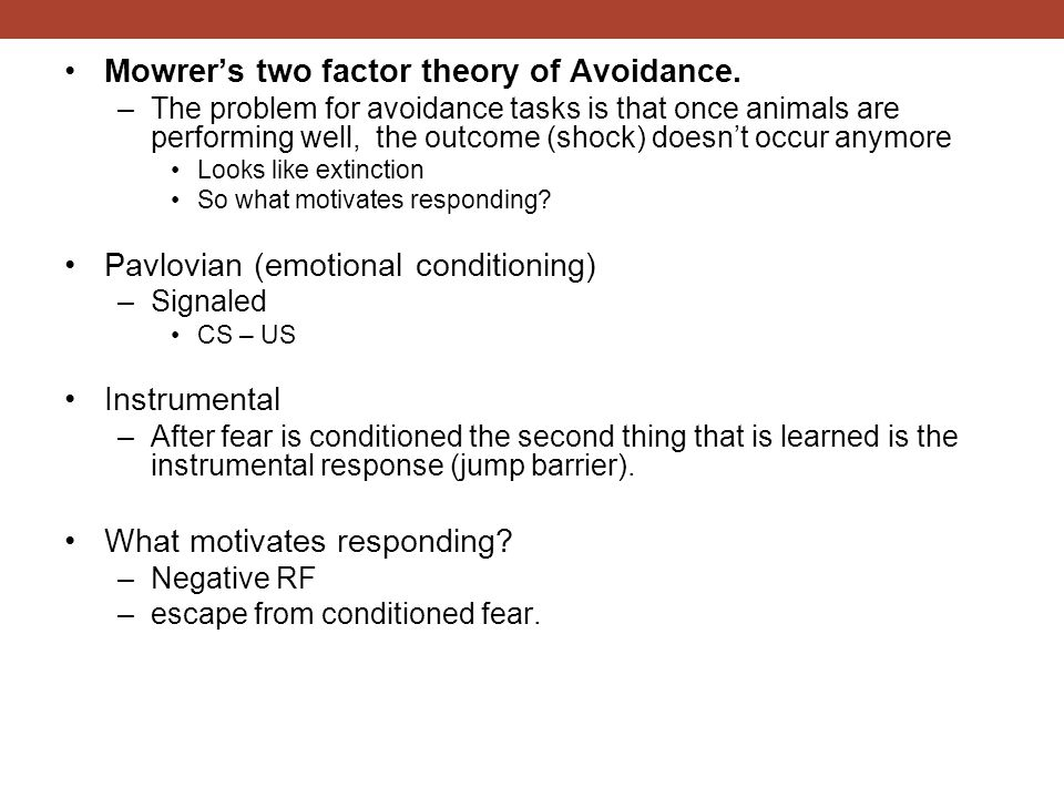 mowrer two factor theory
