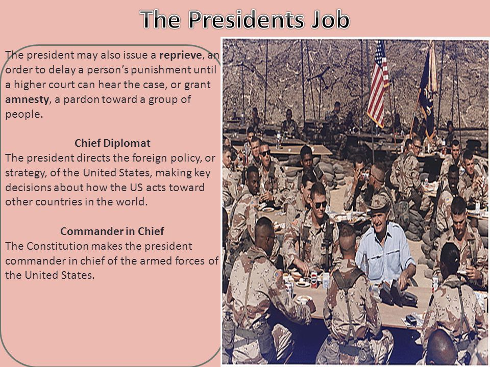 The Presidents Job