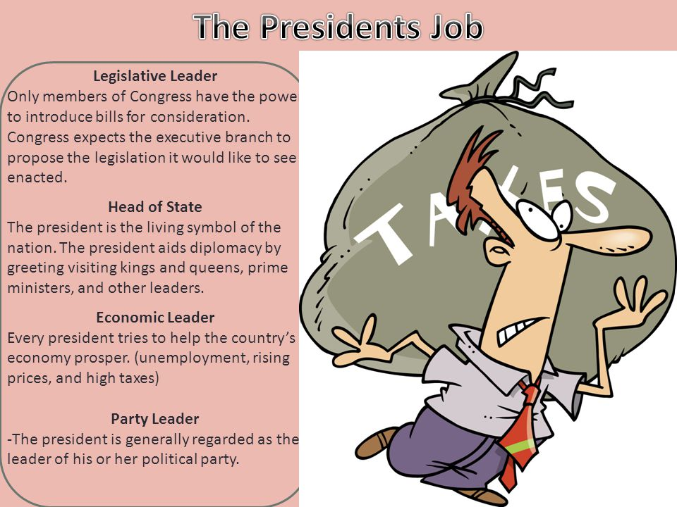 The Presidents Job Legislative Leader