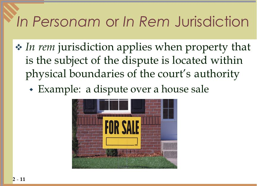 Opinions on personal jurisdiction.