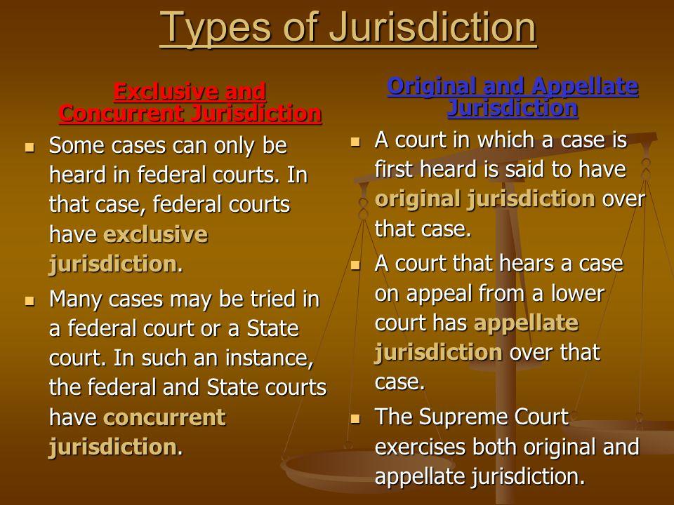 difference between original jurisdiction and appellate jurisdiction