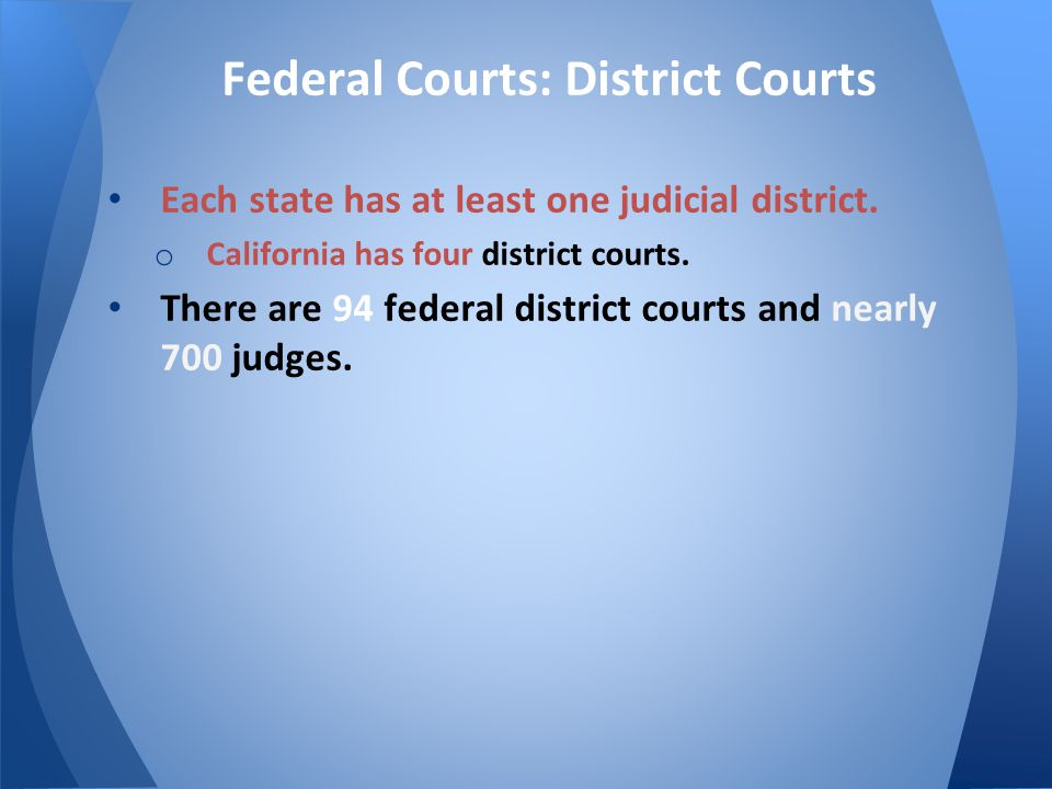 Federal Courts: District Courts