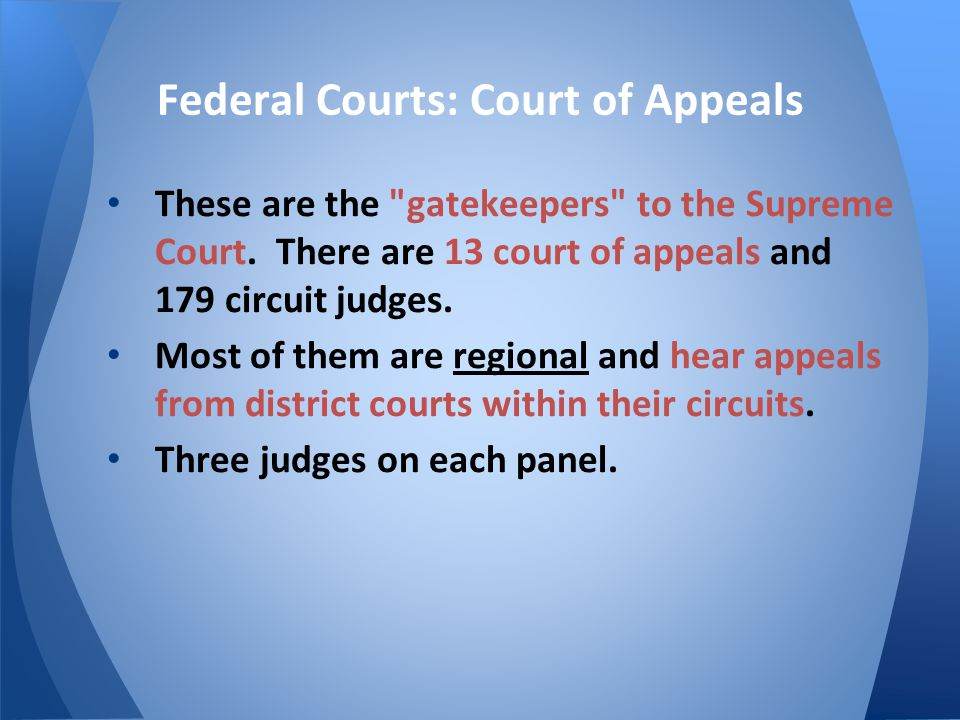 Federal Courts: Court of Appeals