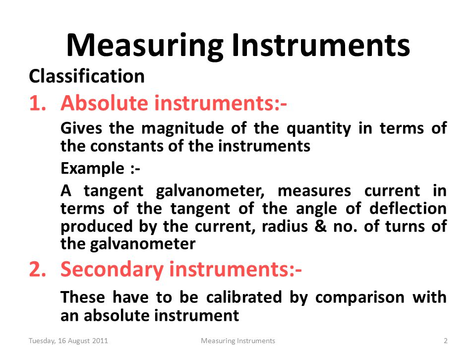 Module 02 Electrical Instruments Ppt Video Online Download