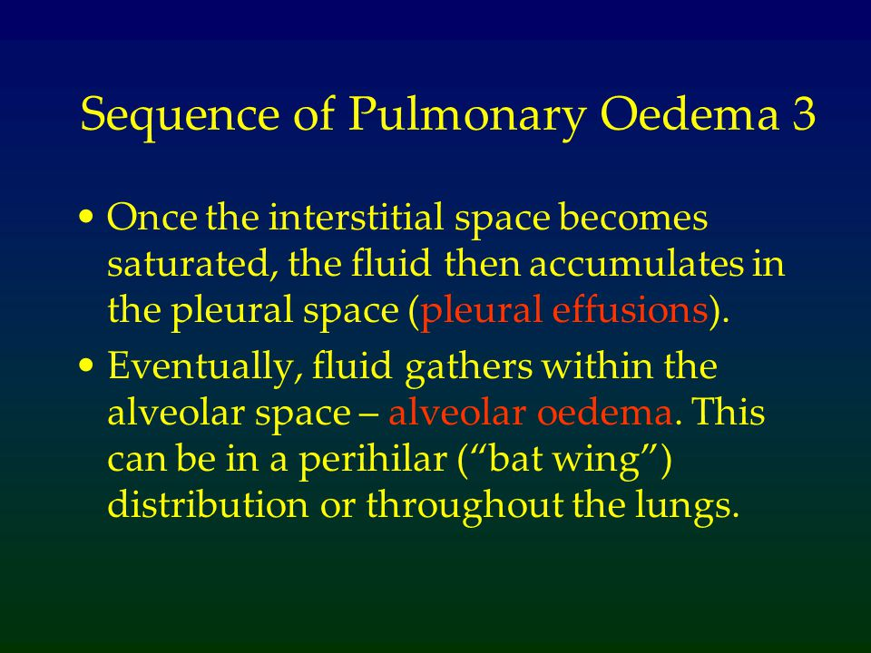 Sequence of Pulmonary Oedema 3