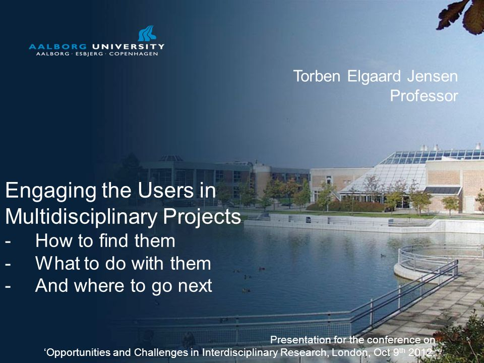 Engaging the Users in Multidisciplinary Projects