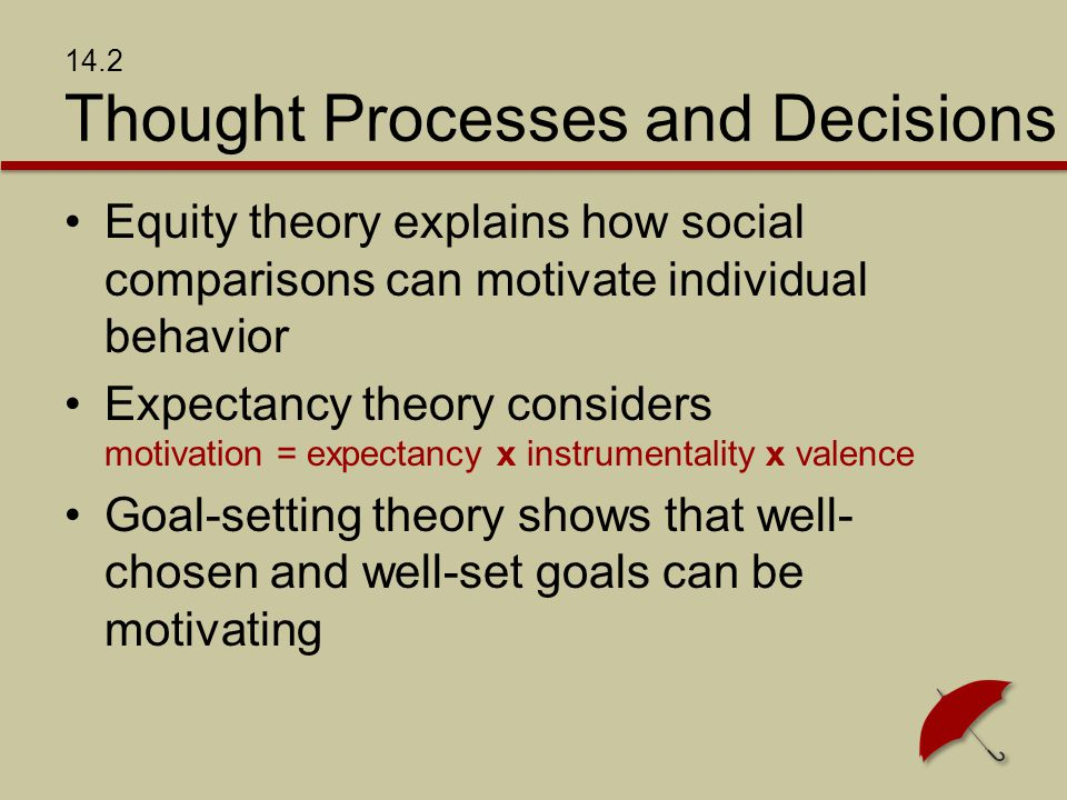 14.2 Thought Processes and Decisions