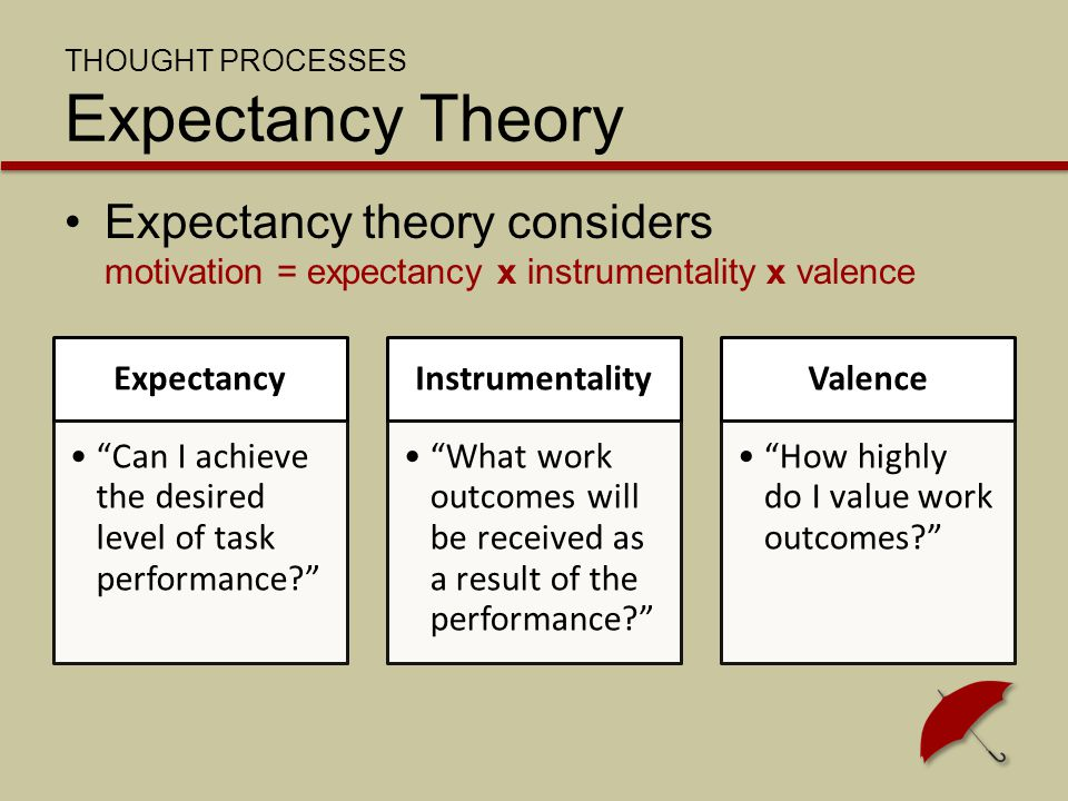 THOUGHT PROCESSES Expectancy Theory