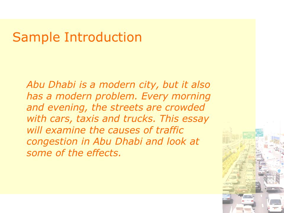 Traffic Congestion Cause and Effect Essay. - ppt download