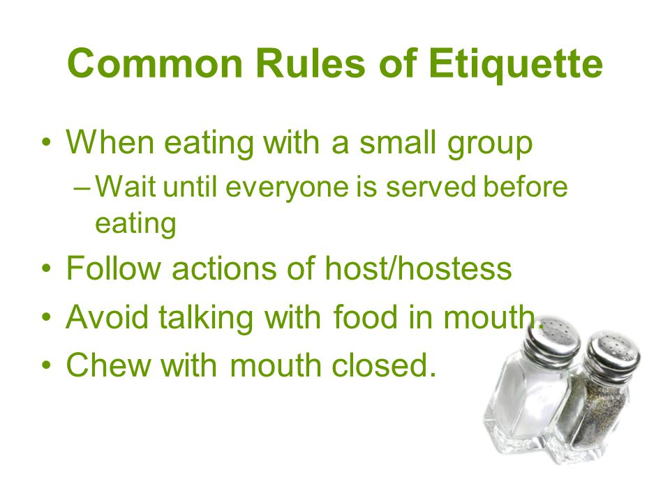 Common Rules of Etiquette