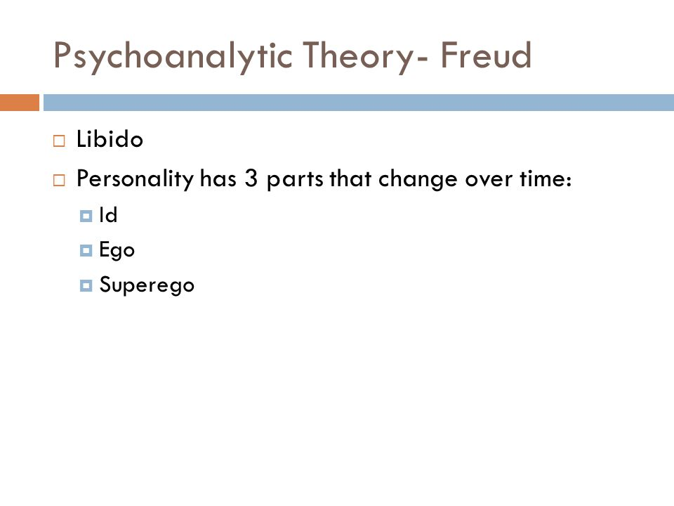 Psychoanalytic Theory- Freud