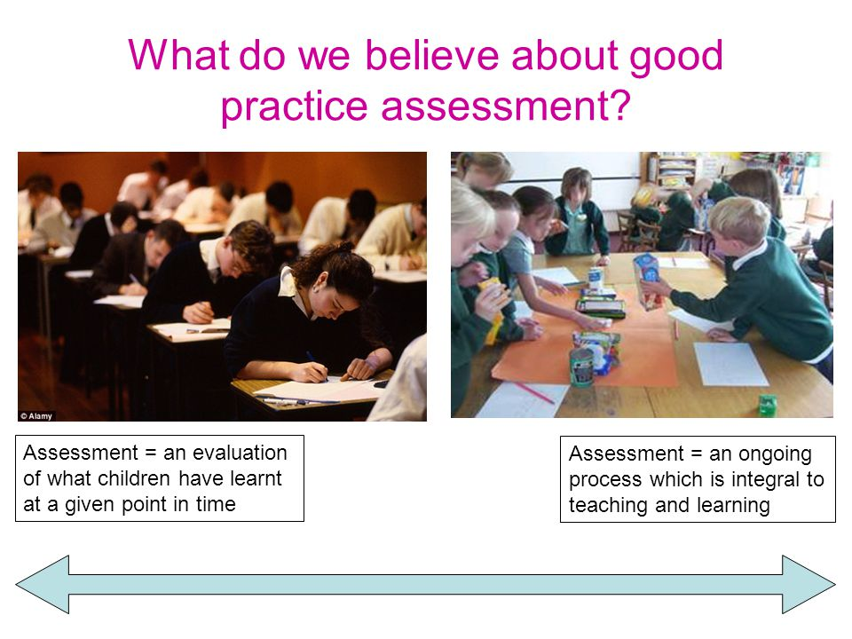 What do we believe about good practice assessment