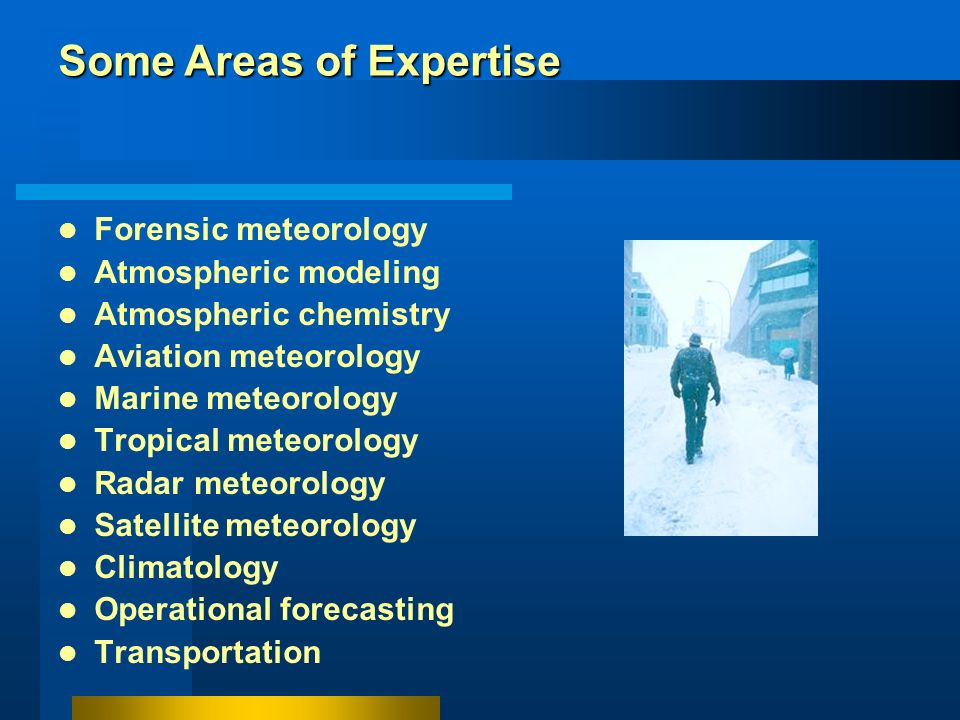 Some Areas of Expertise