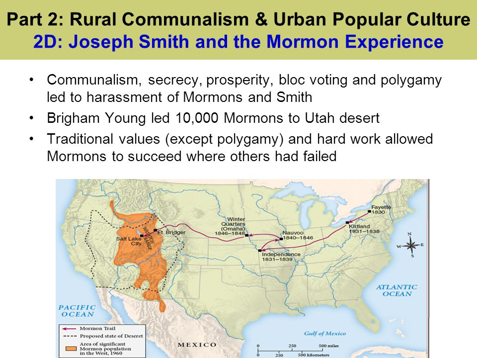 Part 2: Rural Communalism & Urban Popular Culture 2D: Joseph Smith and the Mormon Experience