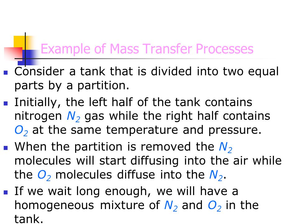 Example of Mass Transfer Processes