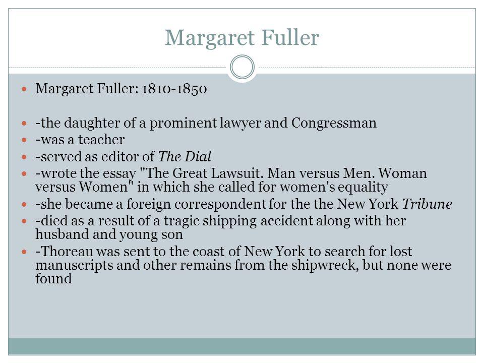 margaret fuller the great lawsuit
