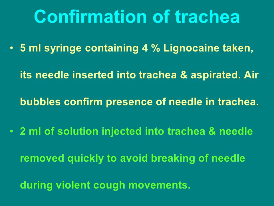 Confirmation of trachea
