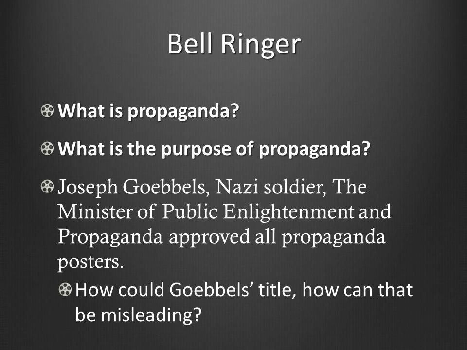 what is the purpose of propaganda