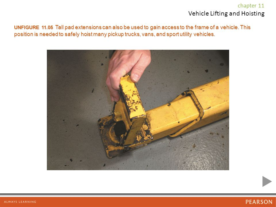 UNFIGURE Tall pad extensions can also be used to gain access to the frame of a vehicle.