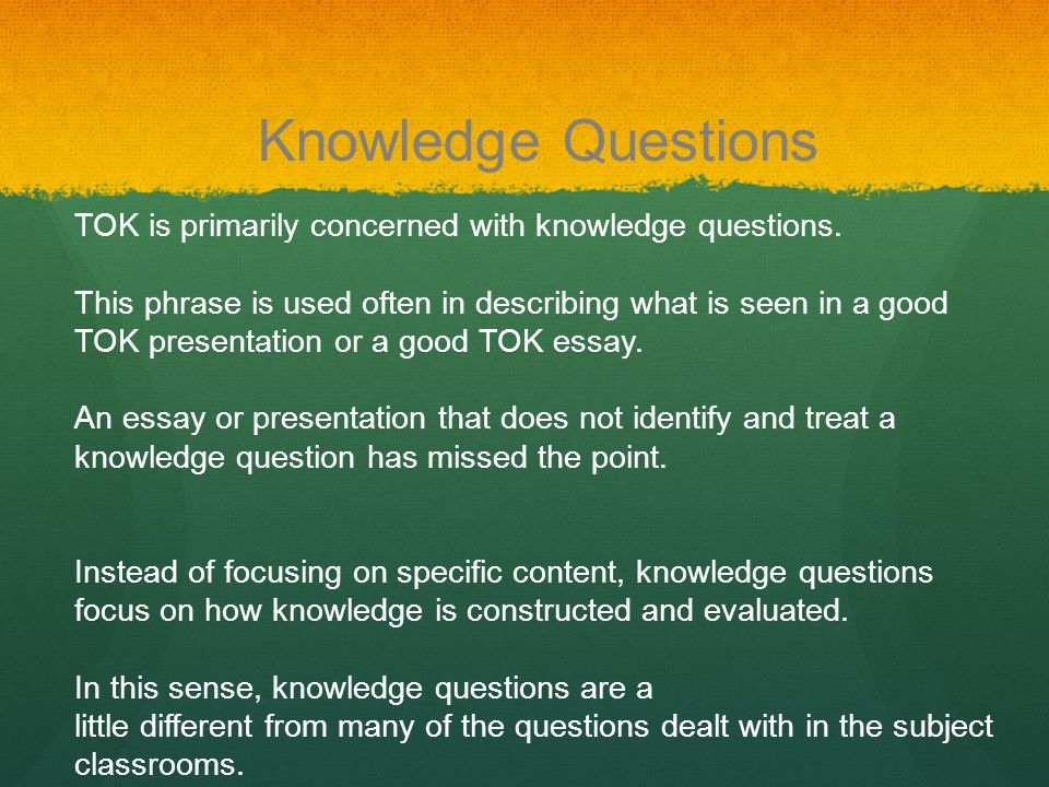 good tok essays Open document below is a free excerpt of  how to write a good tok essay from anti essays, your source for free research papers, essays, and term paper examples.