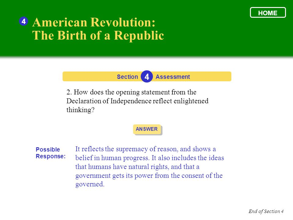 why did the enlightenment end