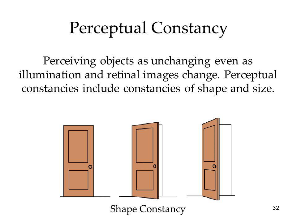 what is perceptual constancy