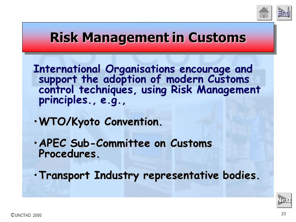 Risk Management in Customs