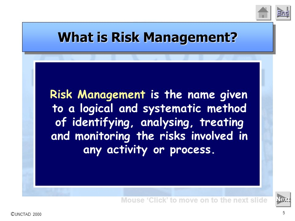 What is Risk Management Mouse 'Click' to move on to the next slide