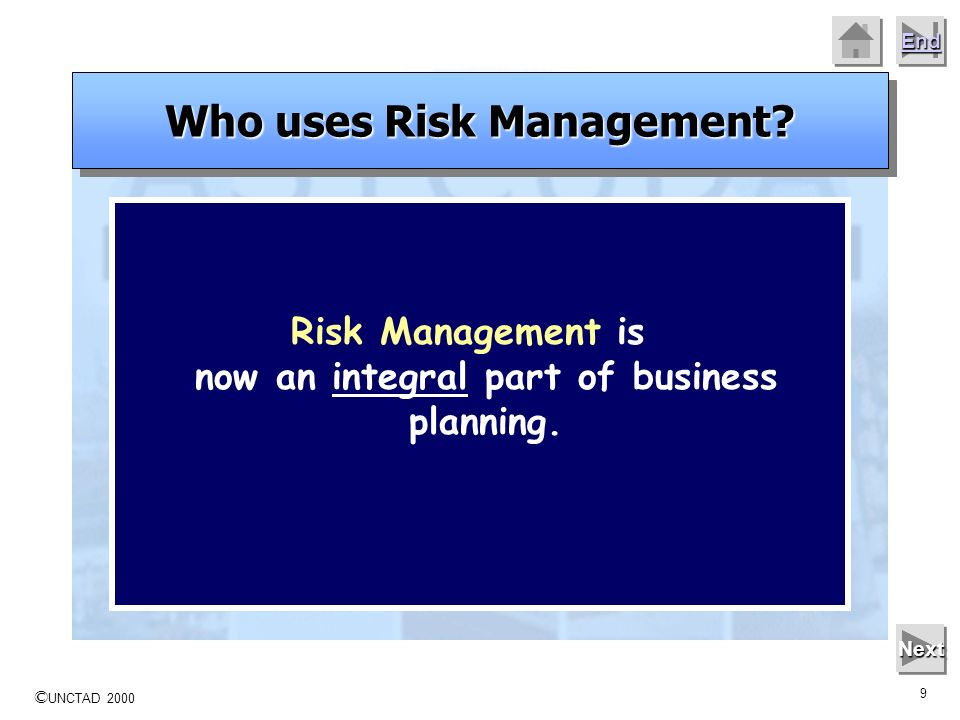 Who uses Risk Management