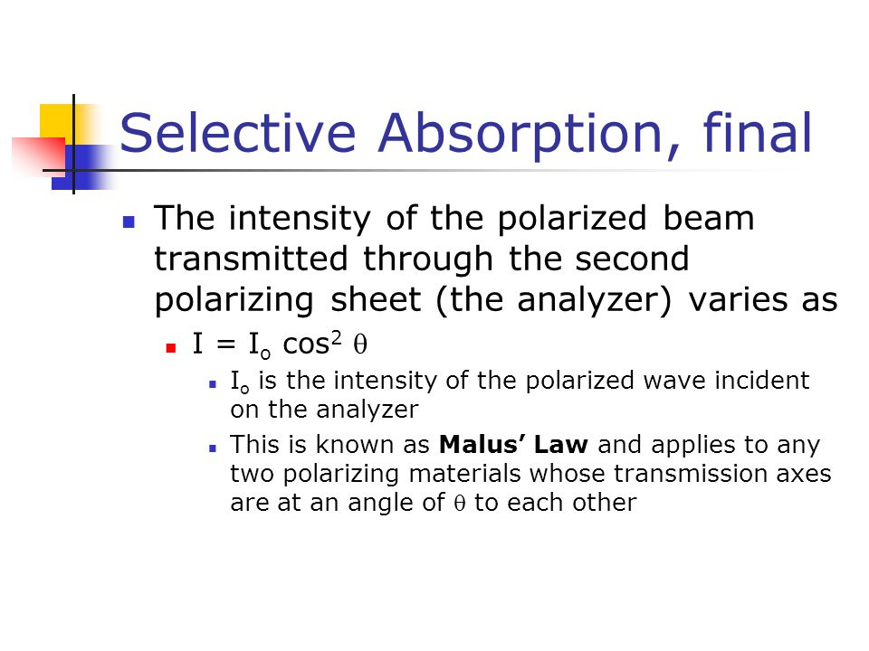 Selective Absorption, final